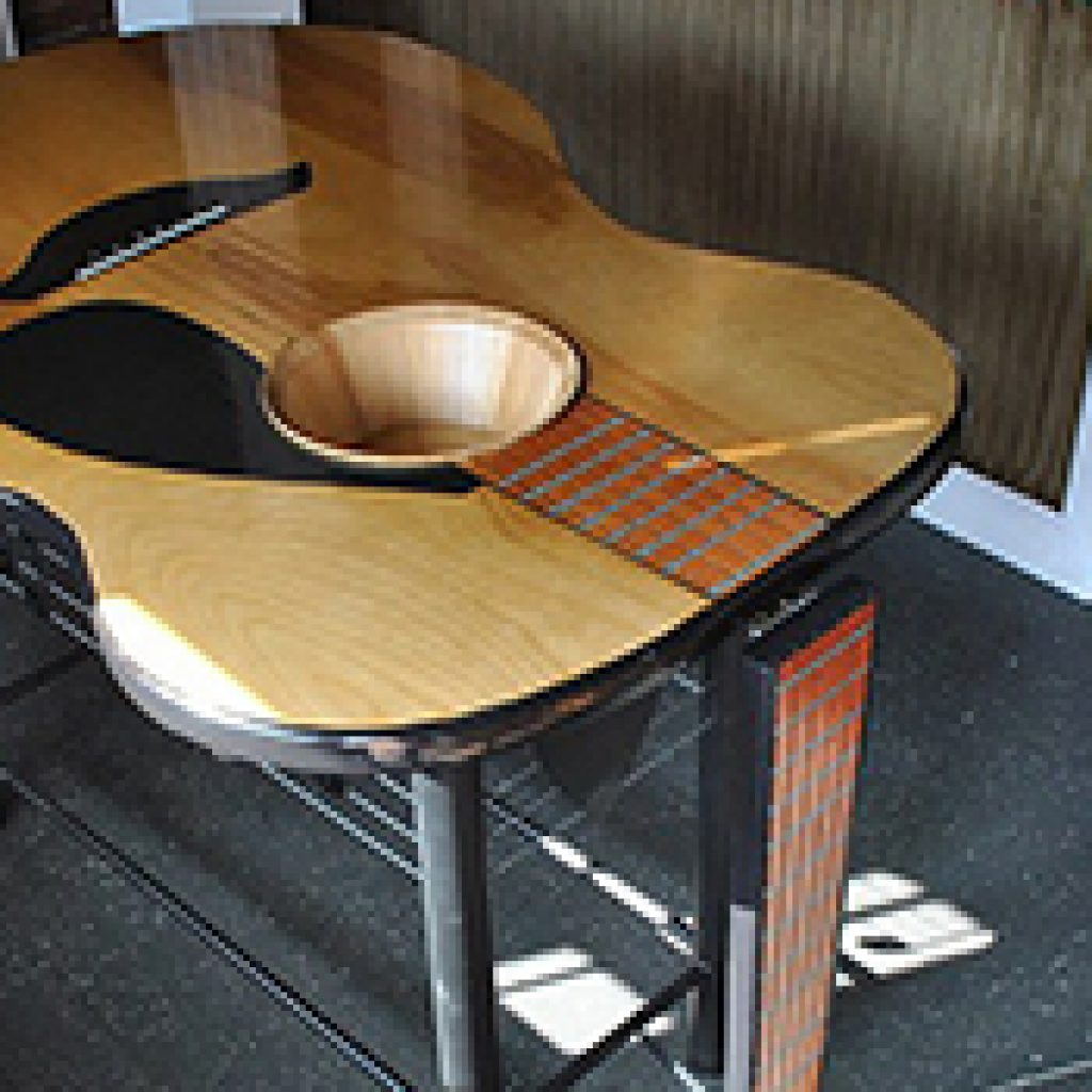 Custom Guitar Tables Gallery Built By Martin Shaped